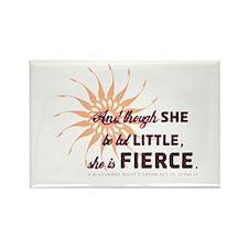 She is Fierce - Grunge Rectangle Magnet
