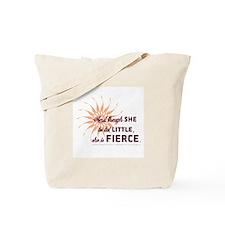 She is Fierce - Grunge Tote Bag