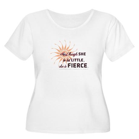 She is Fierce - Grunge Women's Plus Size Scoop Nec