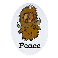 American Bison Peace Ornament