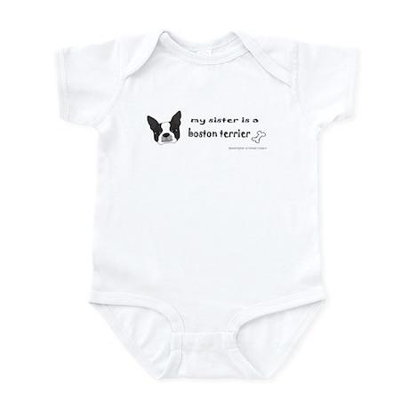 boston terrier gifts Infant Bodysuit