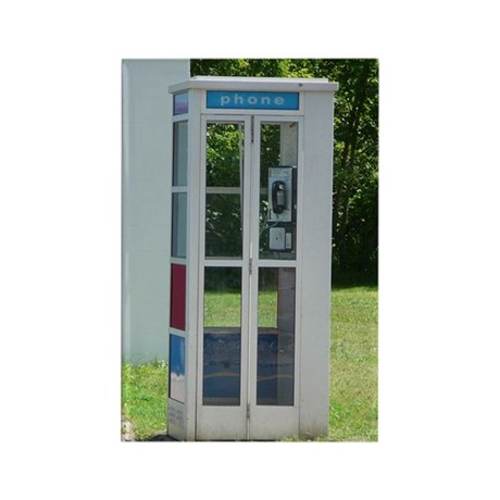 Phone Booth Rectangle Magnet (10 pack)