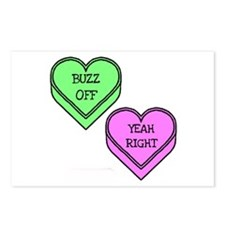 Conversation Hearts Postcards (Package of 8)