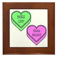 Conversation Hearts Framed Tile