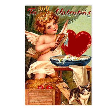 Valentine Cupid Postcards (Package of 8)