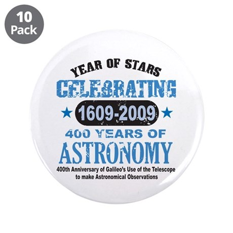 """Astronomy Lover 3.5"""" Button (10 pack)"""