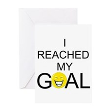 Reached My Goal Greeting Card
