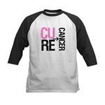 Cure (Breast) Cancer Kids Baseball Jersey