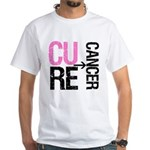 Cure (Breast) Cancer White T-Shirt