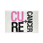 Cure (Breast) Cancer Rectangle Magnet (100 pack)