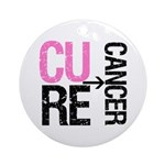 Cure (Breast) Cancer Ornament (Round)