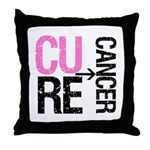 Cure (Breast) Cancer Throw Pillow