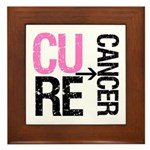 Cure (Breast) Cancer Framed Tile