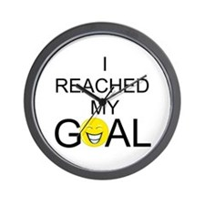 Reached My Goal Wall Clock