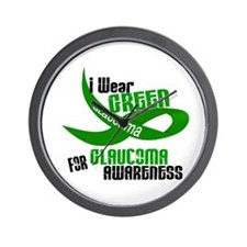 I Wear Green 33 (Glaucoma Awareness) Wall Clock