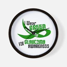 I Wear Green 33 (Glaucoma Awareness) Wall Clock