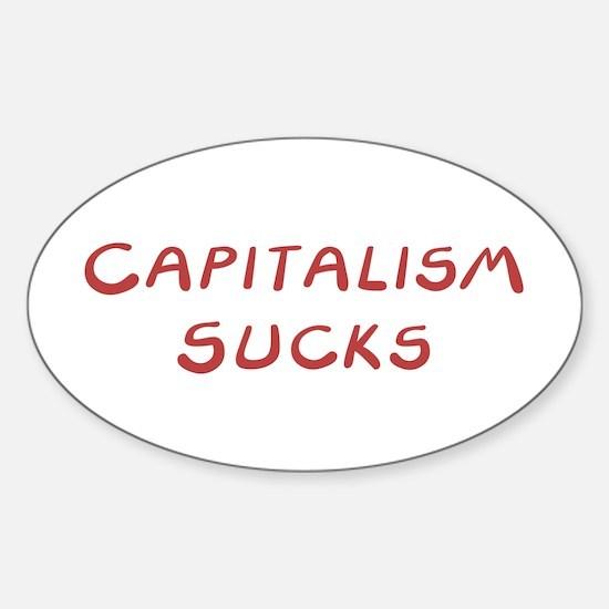 Capitalism Sucks Oval Decal