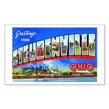 Steubenville Ohio Greetings Rectangle Decal