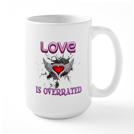 Overrated Valentine Large Mug