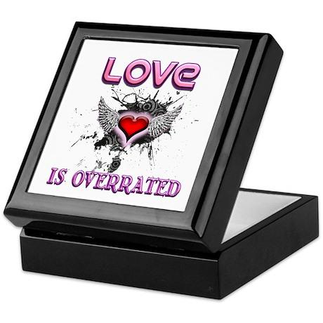 Overrated Valentine Keepsake Box