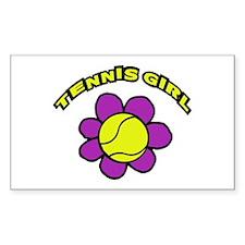 tennis girl Rectangle Decal