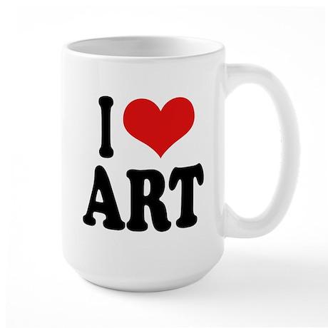 I Love Art Large Mug