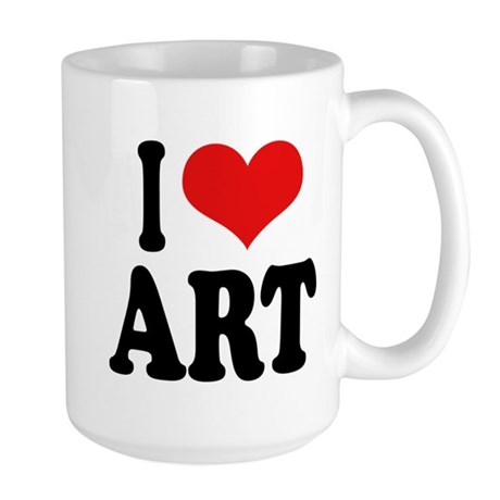 I Love Art Large Mug
