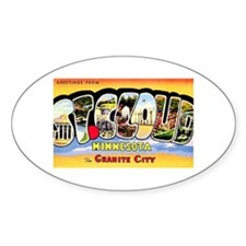 St. Cloud Minnesota Greetings Oval Bumper Stickers