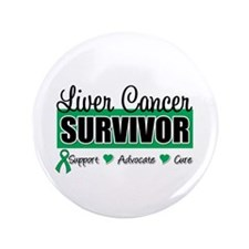 "Liver Cancer Survivor 3.5"" Button"