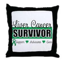 Liver Cancer Survivor Throw Pillow