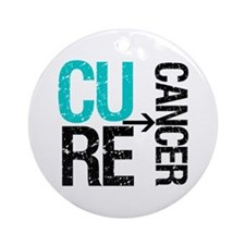 Cure (Thyroid) Cancer Ornament (Round)
