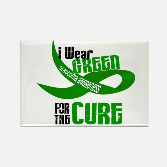 I Wear Green 33 (Glaucoma Cure) Rectangle Magnet