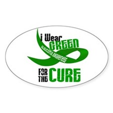 I Wear Green 33 (Glaucoma Cure) Oval Decal