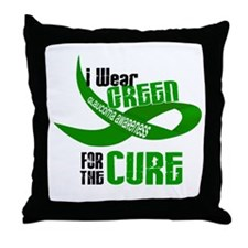 I Wear Green 33 (Glaucoma Cure) Throw Pillow