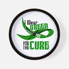 I Wear Green 33 (Glaucoma Cure) Wall Clock