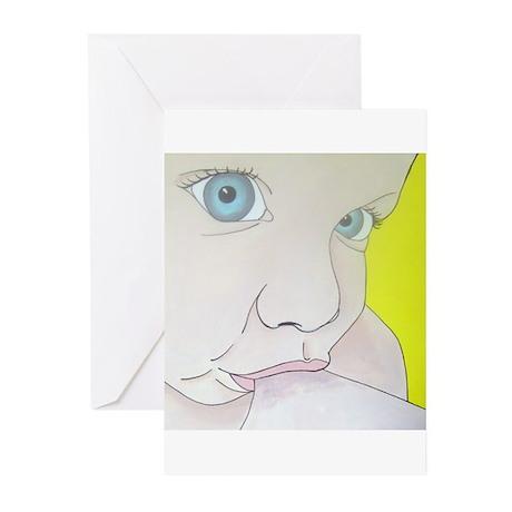 blue eyes Greeting Cards (Pk of 20)