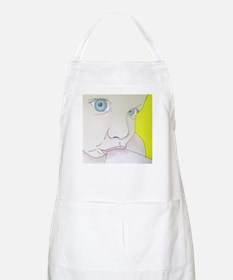 blue eyes BBQ Apron