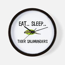 Eat ... Sleep ... TIGER SALAMANDERS Wall Clock