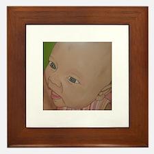 baby girl nursing Framed Tile