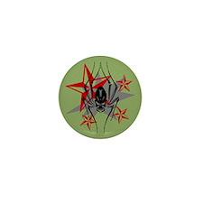 Spider Skull Mini Button