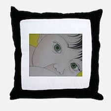 green eyes nursing Throw Pillow
