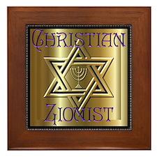 Christian Zionist 2 Framed Tile
