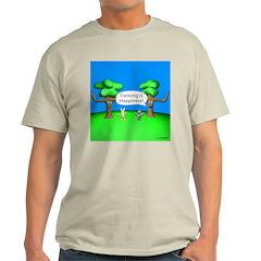 Dancing is Happiness Ash Grey T-Shirt