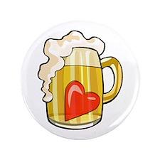 "Heart in Beer Mug 3.5"" Button"