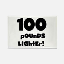 100 Pounds Lighter Rectangle Magnet