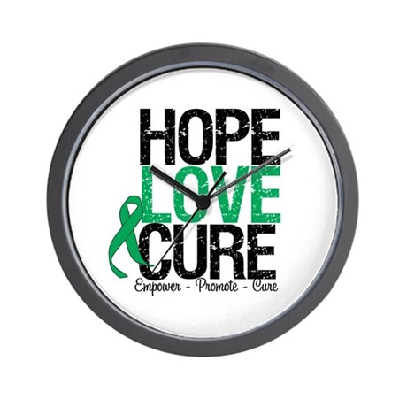 HopeLoveCure Liver Cancer Wall Clock
