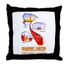 Broadway Limited PRR Throw Pillow