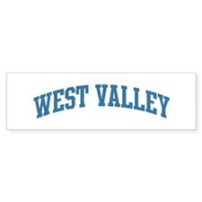West Valley (blue) Bumper Bumper Sticker
