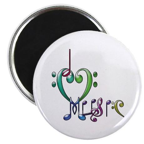 """I Love Music 2.25"""" Magnet (100 pack)"""