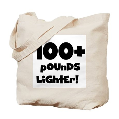 100 Plus Pounds Tote Bag